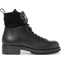 Feit Military Leather Boots Black