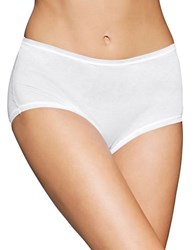 Fine Lines Pure Cotton Full Briefs White