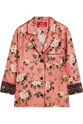 F.R.S For Restless Sleepers Era Floral Print Silk Twill Blouse Pink