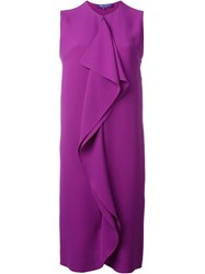 Ralph Lauren Ruffle Detail Sleeveless Dress Pink And Purple