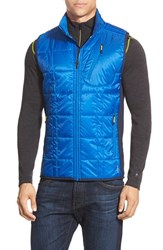 Men's Smartwool 'Corbet 120' Quilted Zip Front Vest Bright Blue