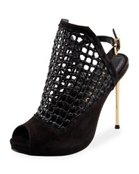 Carrano Genesis Caged Peep Toe Pump Black