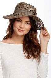Flora Bella Bacilia Small Open Raffia Braid Hat Beige