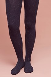 Anthropologie Confetti Tights Navy