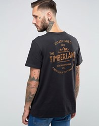 Timberland Kennebec T Shirt Mountain With Logo Back Print Black