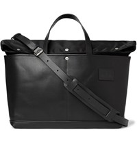 Atelier De L'armee Leather And Shell Tote Bag Black