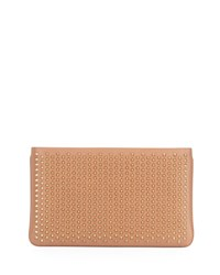 Christian Louboutin Loubiposh Spiked Clutch Bag Nude Nude Gold