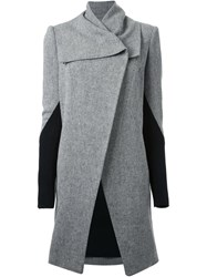 Kitx Structured Open Front Coat Grey