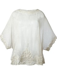 Faliero Sarti Crochet Detail Blouse Nude And Neutrals