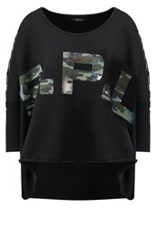 Replay Sweatshirt Black Camouflage