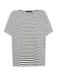 Soaked In Luxury Oversized Striped T Shirt Multi Coloured