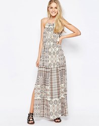Only Boho Print Maxi Dress Bone White