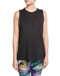 Triangle Sport Tank With Mesh Insert Black Onzie