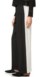Dkny Wide Leg Pants With Cuffs Black Gesso