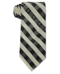 Eagles Wings Vanderbilt Commodores Checked Tie Black White
