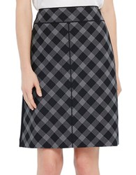 Ellen Tracy Satorial Sophistication Piped A Line Skirt Black