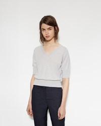 Margaret Howell Cashmere Silk Sweater Pale Grey