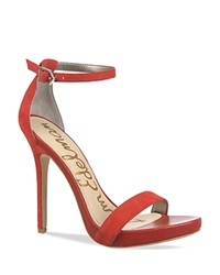 Sam Edelman Ankle Strap Sandals Eleanor High Heel Red