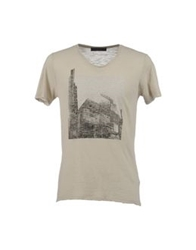 Vneck Short Sleeve T Shirts Beige