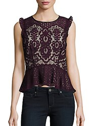 Parker Sleeveless Lace Top Cordovan