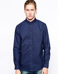 Weekday Shirt Bad Times Oxford Button Down Navy