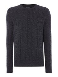 Howick Andover Cable Crew Neck Charcoal Marl