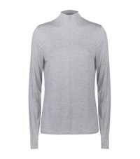 Elie Tahari Cecil Turtleneck Top Female Grey