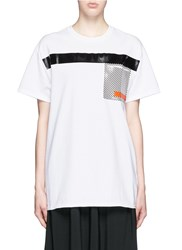 Toga Archives Glossy Checkerboard Pocket T Shirt White