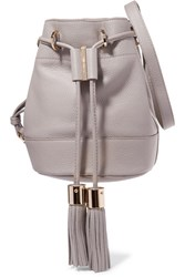 See By Chloe Vicki Textured Leather Bucket Bag Gray