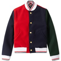 Thom Browne Heavyweight Varsity Jacket Multi