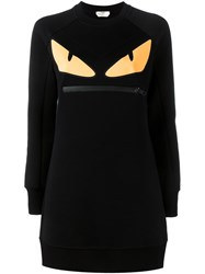 Fendi Bag Bugs Long Sweatshirt Black