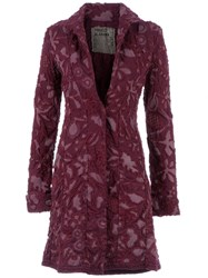 Projet Alabama Patterned Coat Pink And Purple
