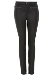 Hallhuber Coated Denim Coated High Waist Jeans Black