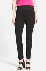 Ming Wang Slim Knit Pants Black