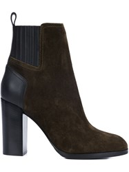 Sergio Rossi Panelled Boots Brown