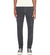 7 For All Mankind Cargo Jogger Regular Fit Tapered Cargo Trousers Washed Black