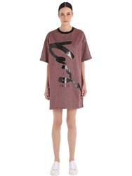 Kenzo Signature Lurex And Cotton T Shirt Dress