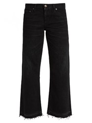 Simon Miller Bora Straight Leg Cropped Jeans Black