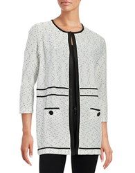 Nipon Boutique Plus High Contrast Knit Cardigan Grey