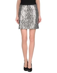 Love Moschino Mini Skirts Platinum