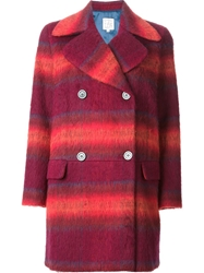 Stella Jean 'Antonella' Plaid Coat Red