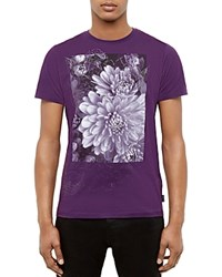 Ted Baker Malvol Floral Graphic Tee Purple
