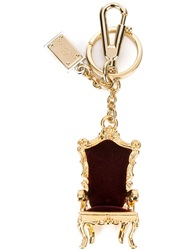Dolce And Gabbana King's Chair Key Ring Red