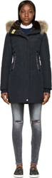 Parajumpers Navy Hooded Selma Coat