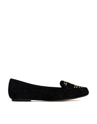 Ravel Mariah Leather Studded Detail Flat Shoes Black