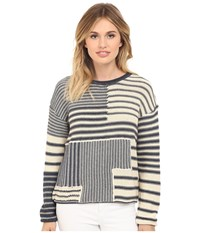 Mavi Jeans Striped Sweater Dress Blue Women's Sweater Navy
