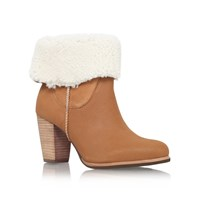 Ugg Charlee High Heel Fur Cuff Ankle Boots Brown