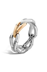 Women's John Hardy 'Bamboo' Hinge Bangle Silver Gold