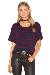Stateside Wine Stripe T Shirt Navy