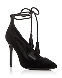 Joie Angelynn Ankle Tie Pointed Toe Pumps Black